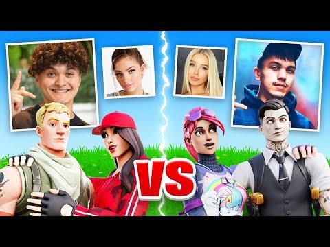 FaZe Jarvis & EX Girlfriend VS FaZe Kay & Girlfriend (Fortnite Challenge)
