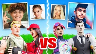 FaZe Jarvis & EX Girlfriend VS FaZe Kay & Girlfriend (Fortnite Challenge)
