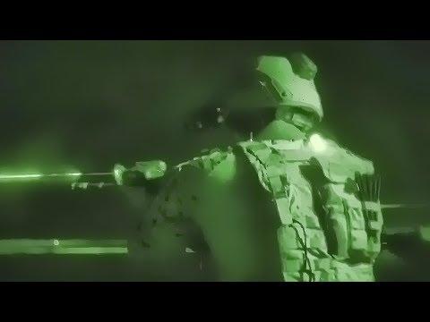 Marines Night Vision Firing Range At Sea • USS Iwo Jima