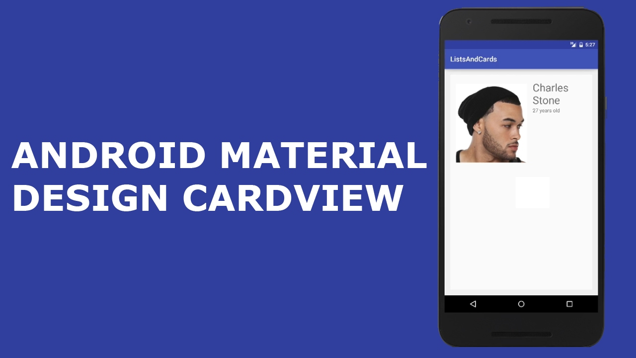 cardview android material design tutorial