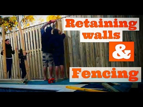 Retaining Wall Installation – Fence Build – Backyard Swimming Pool Project
