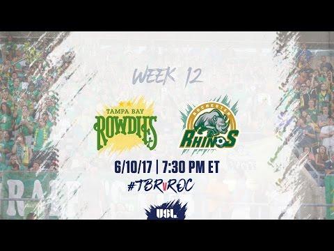 USL LIVE - Tampa Bay Rowdies vs Rochester Rhinos 6/10/17
