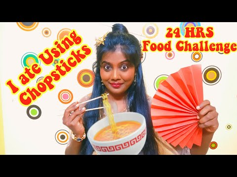 I Only Ate with CHOPSTICKS for 24 HOURS FOOD CHALLENGE | Full day eating Vlog [ Tamil ]