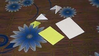 Модульное оригами для начинающих как сделать треугольные большие модули (6 см на 4 см)