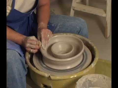 Danielle ~ The Clay Lady - Throwing a Chip & Dip on the Pottery Wheel