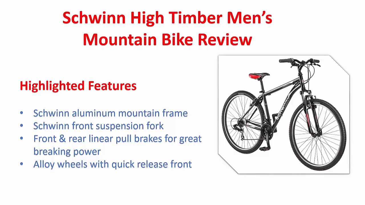 f45df2ee50c Schwinn High Timber Men s Mountain Bike Review - YouTube
