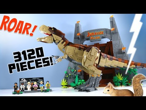 LEGO Jurassic Park: T. rex Rampage Exclusive 75936 Speed Build 2019