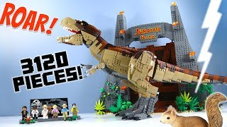 LEGO Jurassic Park: T. rex Rampage Exclusive 75936 Speed Build 2019