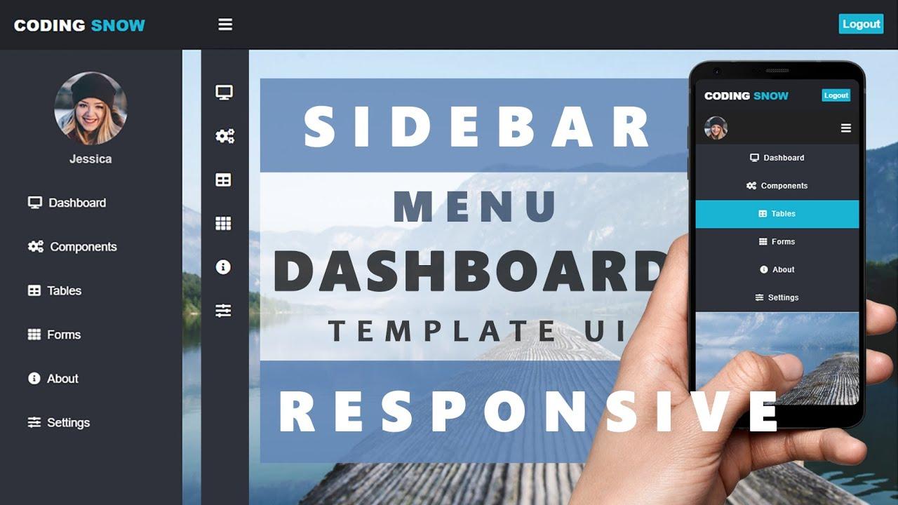 Responsive Sidebar Menu Dashboard Template UI Using CSS, HTML & JQuery