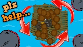 RAAAAFT.IO CRAZY SPINNING RAFT GLITCH!! // Trolling Players (Raft Funny Moments)