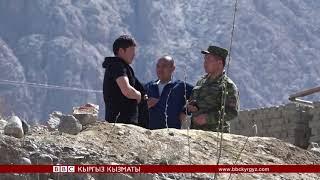 Баткендеги чек ара чырына себеп болгон дубал - BBC Kyrgyz