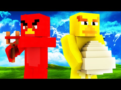 Minecraft - ANGRY BIRDS SKYWARS - BABY HAPPY BIRDS?