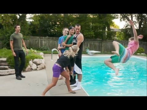 iPhone Roulette: Throwing people and a cell phone into a pool
