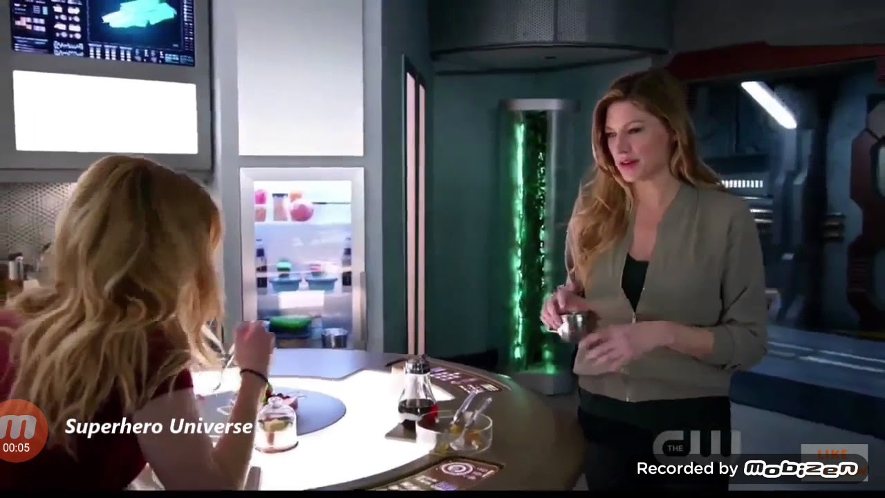 DC Legend of tomorrow 3x13 Sara, Ava eat breakfast together scene
