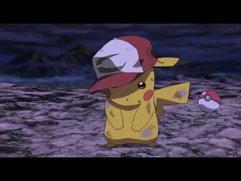 Pikachu cries over Ash's death
