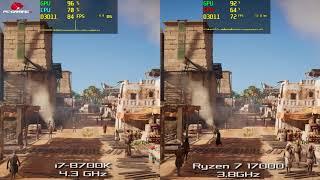 Video i7-8700K vs Ryzen 7 1700 3.8GHz 1080p Ultra | GTX 1080 download MP3, 3GP, MP4, WEBM, AVI, FLV Oktober 2018