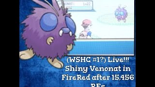 wshc live shiny venonat in the safari zone after 15 456 re s w f