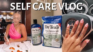 SELF CARE VLOG new nails cleaning my apartment target haul etc