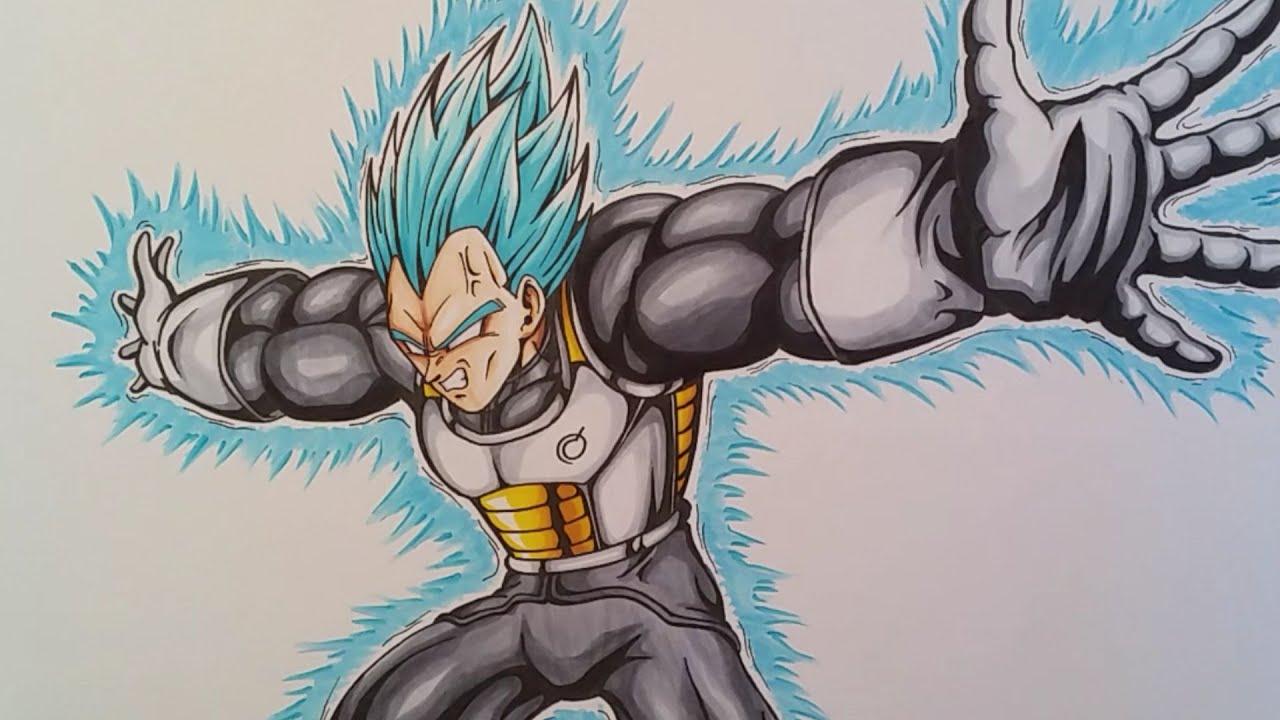 Drawing Vegeta Super Saiyan Blue