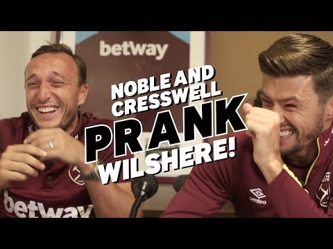 Jack Wilshere pranked by Noble and Cresswell!