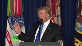 Trump gives address on strategy for Afghanistan and South Asia (STREAMED LIVE)