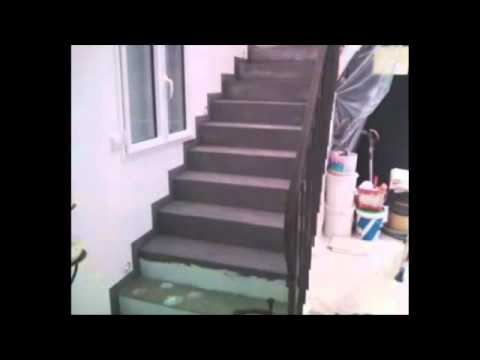escalier en beton cire youtube. Black Bedroom Furniture Sets. Home Design Ideas