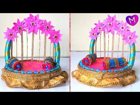 Ganpati decoration ideas for home | ganesh decoration ideas easy | Ganesh chaturthi 2018