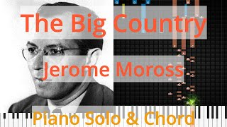 🎹Solo & Chord, The Big Country, Jerome Moross, Synthesia Piano