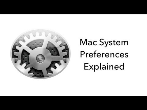 Mac OSX System Preferences Explained