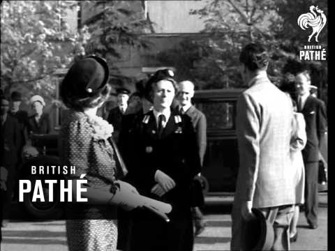 Lord And Lady Mountbatten Leave For India (1947)