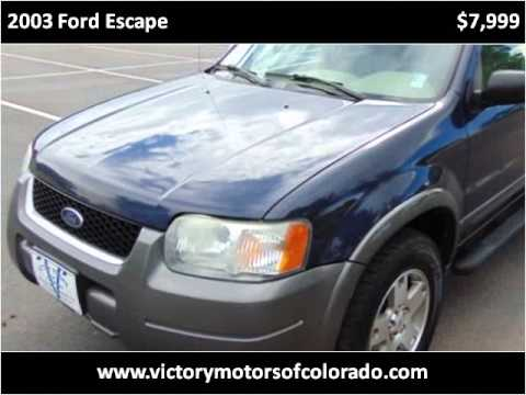 2003 ford escape used cars longmont co youtube for Victory motors trucks longmont