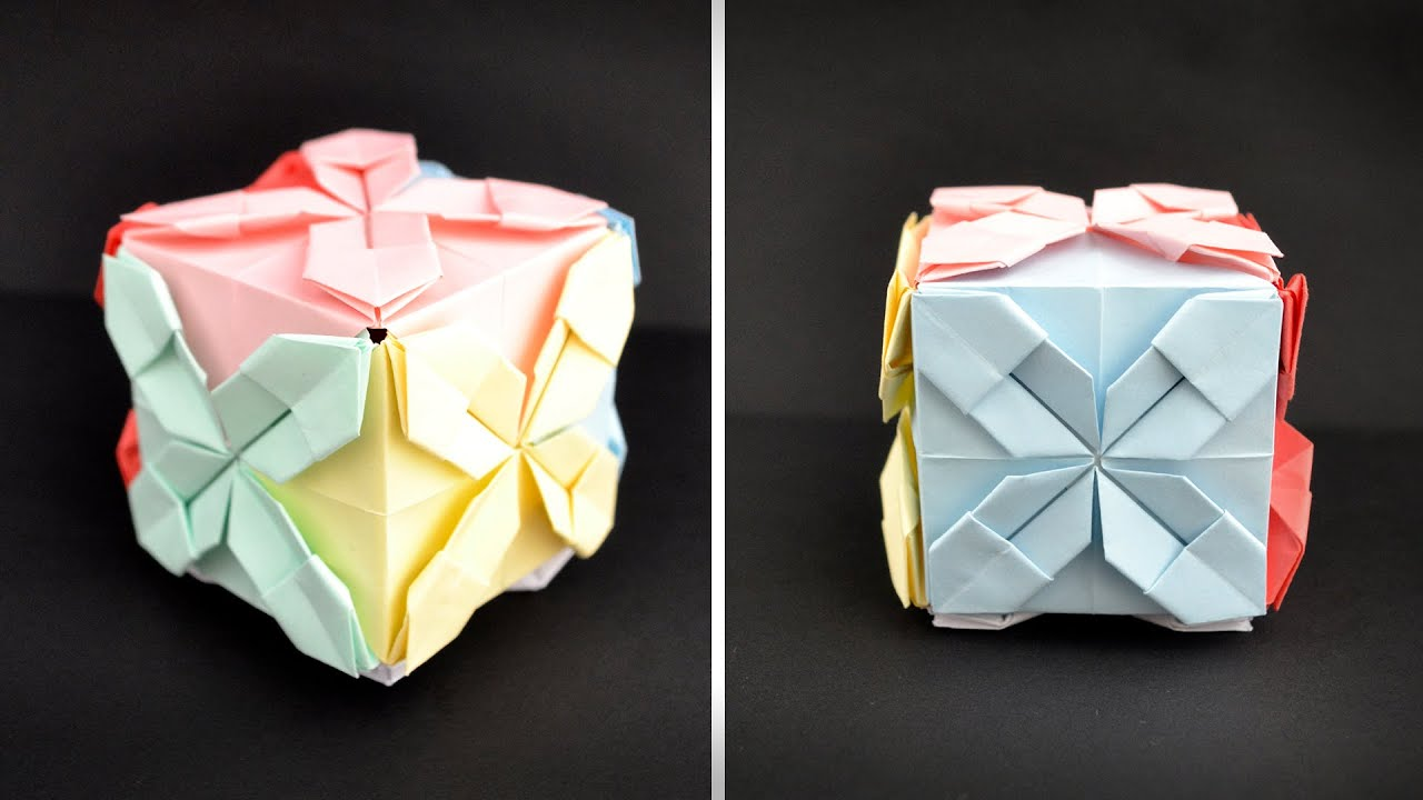 Colored PAPER GIFT BOX (CUBE) | Origami Tutorial DIY by ColorMania