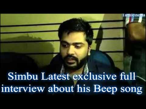 SIMBU TALKS ABOUT BEEP SONG EXCLUSIVE LATEST