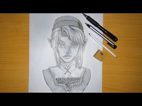 drawing-link-from-the-legend-of-zelda-series!