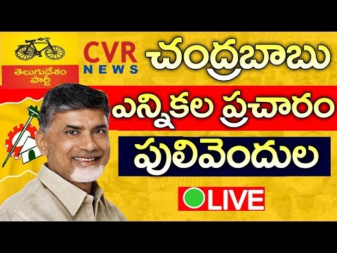 AP CM Chandrababu Naidu Speech LIVE | Election Campaign in Pulivendula | Kadapa District | CVR NEWS