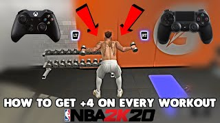 HOW TO GET UNLIMITED GATORADE AND +4 ON ALL YOUR WEEKLY WORKOUTS (NBA 2K20)