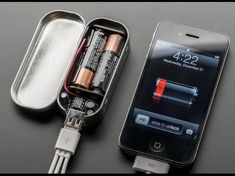 How To Make A Portable Usb Cell Phone Charger Youtube