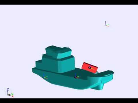 crane barge dynamics