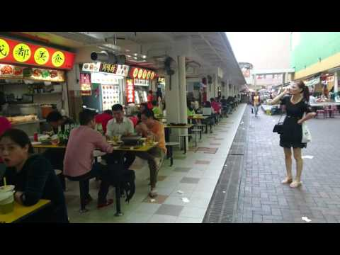 Singapore, Chinatown, food area near MRT station, walking around | Sony Xperia Z5