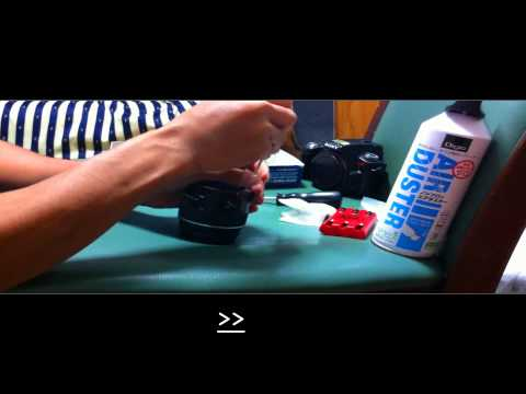 slr camera 18-55 lens cleaning inside/out