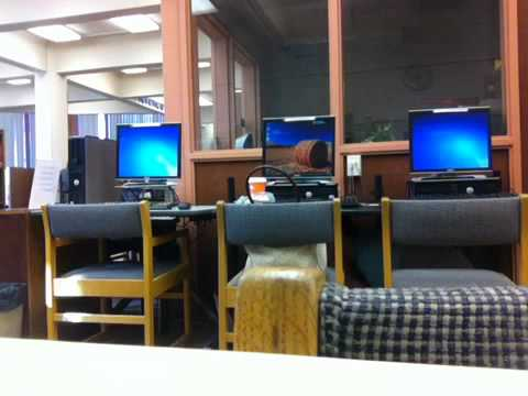 Library prank at Lassen Community College