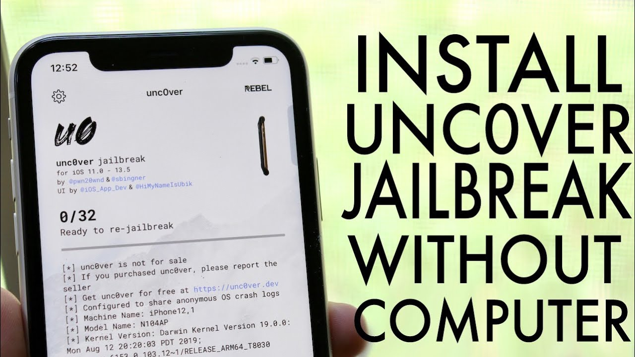 How To Jailbreak Any Iphone Without Computer Unc0ver Jailbreak Youtube