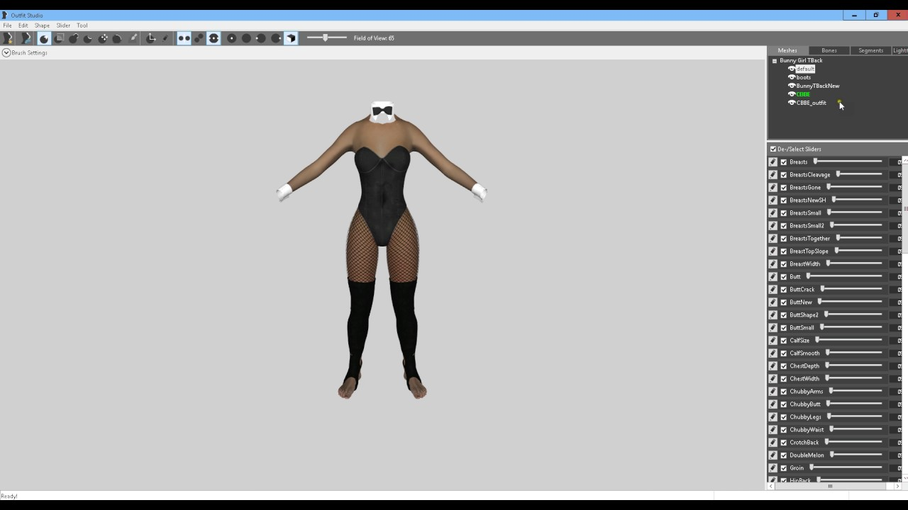 Steps if your Armor/Clothing already has a CBBE body in it