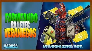 FORTNITE ? SAVING THE WORLD FARMEANING VERANIEGOS BILLETES ROAD TO 1.4k SUBS .270519N