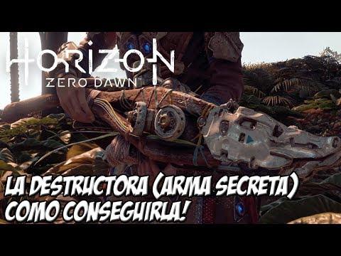 COMO CONSEGUIR DESTRUCTORA ARMA SECRETA DE HORIZON ZERO DAWN