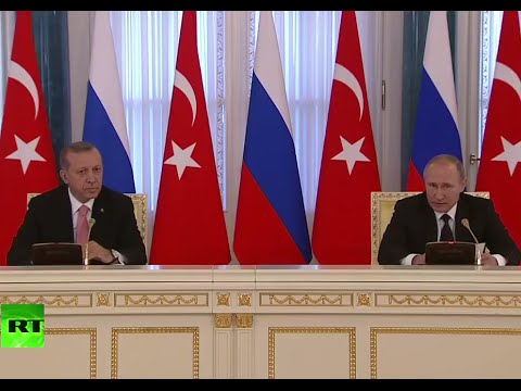 Putin, Erdogan hold joint press conference in St. Petersburg (FULL VIDEO)