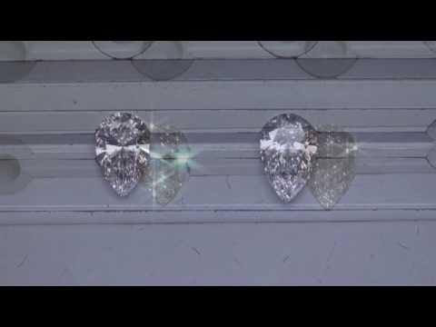 Pear Shaped Diamond Comparison:  92ct G VS1 vs 1 08ct D VVS2