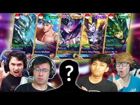 SQUAD YOUTUBER FULL MM KAYAK ARISAN! - MOBILE LEGEND INDONESIA