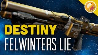 DESTINY Felwinter's Lie Fully Upgraded Legendary Review (Iron Banner Shotgun)