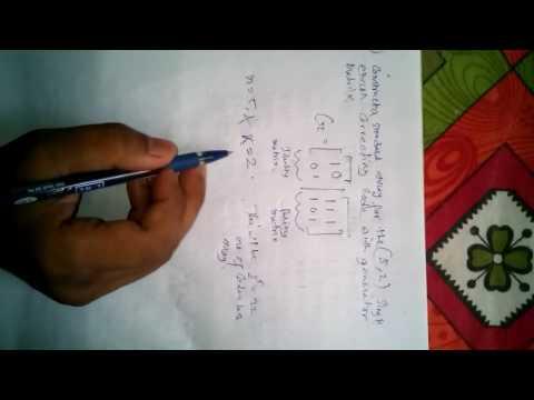 standard array for error control coding